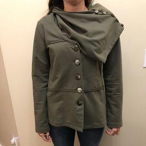 Neon Buddha Green Cowl Neck Jacket/Sweater
